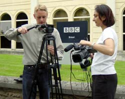Two  trainees on my five day course at the BBC